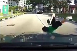 Snapshot of the accident footage