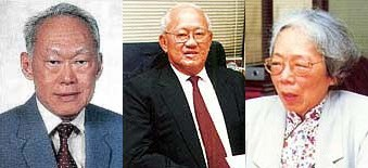 Lee Kuan Yew, Lee Kim Yew and Kwa Geok Choo. Credit: Lee & Lee