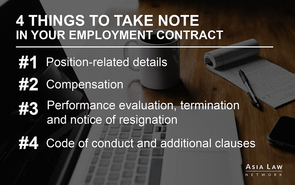 A checklist of the most important things to note in an employment contract -- Asia Law Network